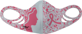 MF7 Kids Antimicrobial Spacer Face Mask - Pink Ribbon Woman